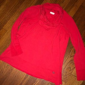 Red cowl neck tunic sweater!